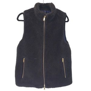 J.crew faux fur zipper vest